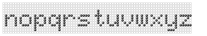 TBMatrix Ghost Sphere Font LOWERCASE