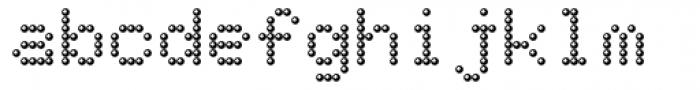 TBMatrix Sphere Font LOWERCASE