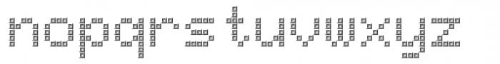 TBMatrix Tile A Font LOWERCASE