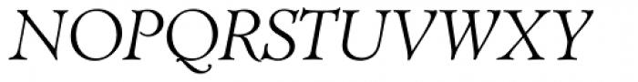 TC Administer RR Light Italic Font UPPERCASE