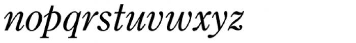 TC Century New Style Light Italic Font LOWERCASE