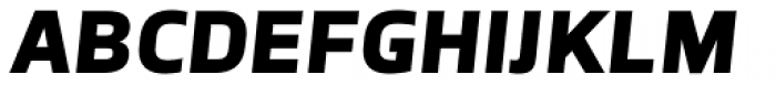TCF Noli Black Italic Font UPPERCASE