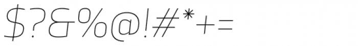 TCF Noli Thin Italic Font OTHER CHARS