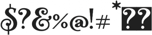 Teach otf (400) Font OTHER CHARS