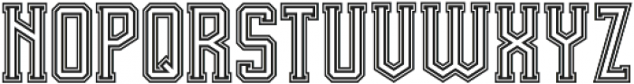 Team Spirit In-Out otf (400) Font LOWERCASE