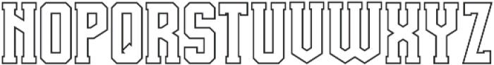 Team Spirit Out FX otf (400) Font UPPERCASE