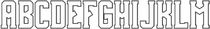 Team Spirit Out FX otf (400) Font LOWERCASE