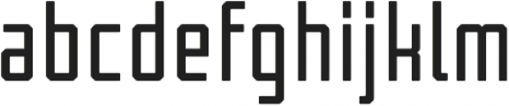Tecnica Bold Alternate Regular otf (700) Font LOWERCASE