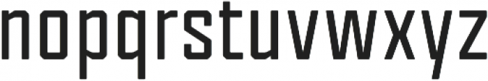 Tecnica Bold Regular otf (700) Font LOWERCASE