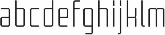 Tecnica Regular Alternate Regular otf (400) Font LOWERCASE