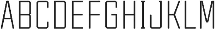Tecnica Regular Regular otf (400) Font UPPERCASE