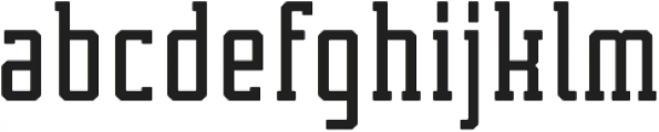 Tecnica Slab Bold Alternate Regular otf (700) Font LOWERCASE