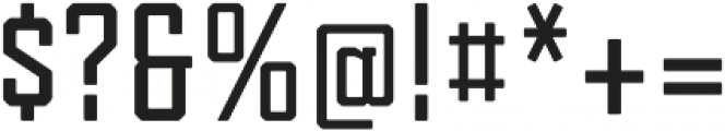 Tecnica Slab Bold Regular otf (700) Font OTHER CHARS
