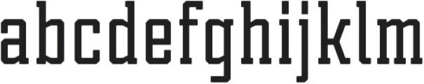 Tecnica Slab Bold Regular otf (700) Font LOWERCASE