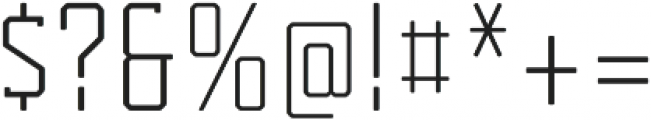 Tecnica Slab Regular Alternate Regular otf (400) Font OTHER CHARS