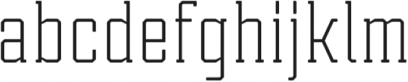 Tecnica Slab Regular Regular otf (400) Font LOWERCASE
