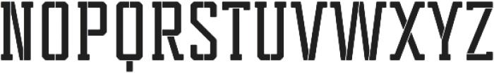 Tecnica Slab Stencil 1 Bd Regular otf (400) Font UPPERCASE