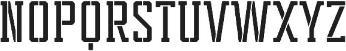 Tecnica Slab Stencil 2 Bd Regular otf (400) Font UPPERCASE