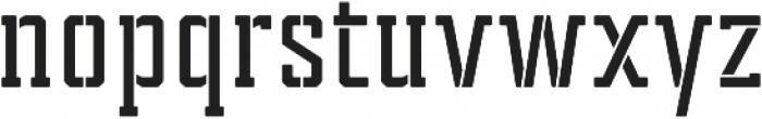 Tecnica Slab Stencil 2 Bd Regular otf (400) Font LOWERCASE