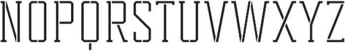Tecnica Slab Stencil 2 Rg Regular otf (400) Font UPPERCASE