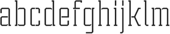 Tecnica Slab Stencil 2 Rg Regular otf (400) Font LOWERCASE