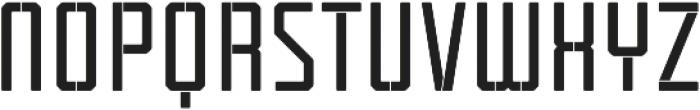 Tecnica Stencil 1 Bd Alt Regular otf (400) Font UPPERCASE