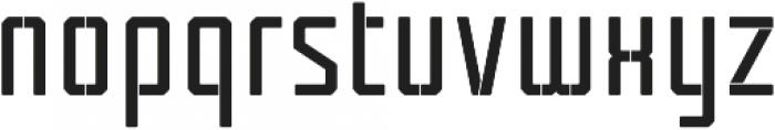 Tecnica Stencil 1 Bd Alt Regular otf (400) Font LOWERCASE