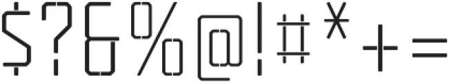 Tecnica Stencil 1 Rg Alt Regular otf (400) Font OTHER CHARS