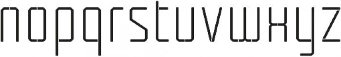 Tecnica Stencil 1 Rg Alt Regular otf (400) Font LOWERCASE