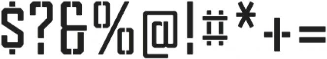 Tecnica Stencil 2 Bd Regular otf (400) Font OTHER CHARS