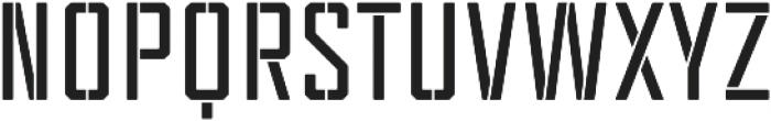 Tecnica Stencil 2 Bd Regular otf (400) Font UPPERCASE