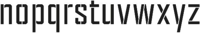 Tecnica Stencil 2 Bd Regular otf (400) Font LOWERCASE