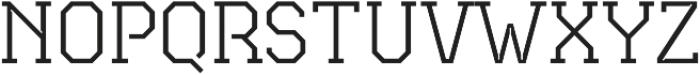 TecoSerif Thin otf (100) Font UPPERCASE