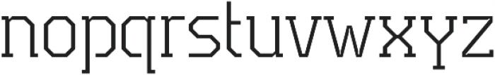 TecoSerif Thin otf (100) Font LOWERCASE