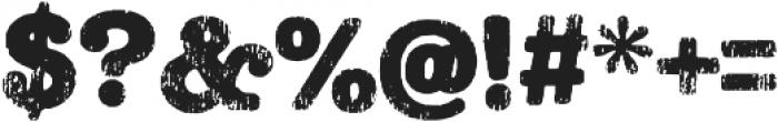 Teeshirt Regular otf (400) Font OTHER CHARS