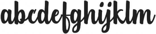 Teiqulato Script ttf (400) Font LOWERCASE