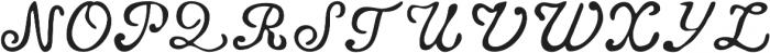 Telegdi Old Style Script otf (400) Font UPPERCASE