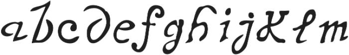 Telegdi Old Style Script otf (400) Font LOWERCASE