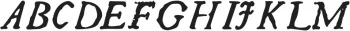 Telegdi Pro Bold Italic otf (700) Font UPPERCASE
