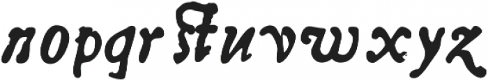 Telegdi Pro Bold Italic otf (700) Font LOWERCASE