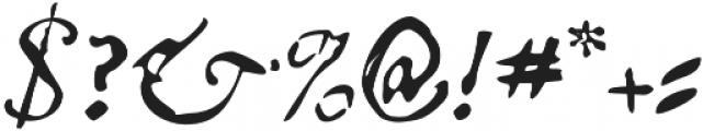 Telegdi Pro Italic otf (400) Font OTHER CHARS