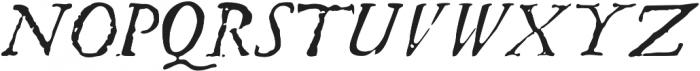 Telegdi Pro Italic otf (400) Font UPPERCASE