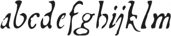 Telegdi Pro Italic otf (400) Font LOWERCASE
