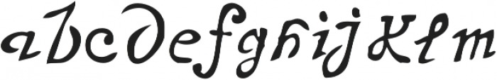 Telegdi Pro Script otf (400) Font LOWERCASE