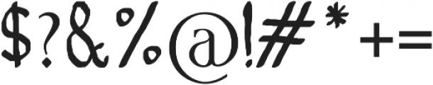 Telena Brush otf (400) Font OTHER CHARS