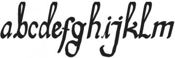 Telena Brush otf (400) Font LOWERCASE