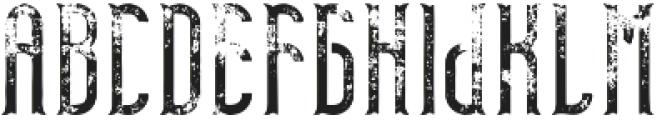 TelfordFont Aged otf (400) Font UPPERCASE