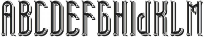 TelfordFont LightShadow otf (300) Font UPPERCASE