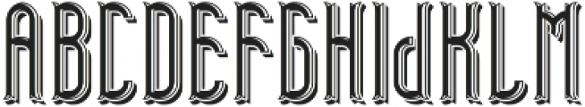 TelfordFont LightShadow otf (300) Font LOWERCASE