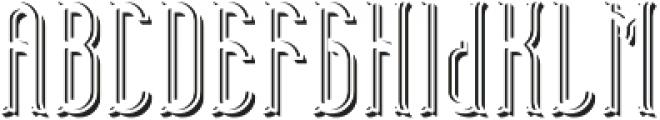 TelfordFont LightShadowFX otf (300) Font UPPERCASE